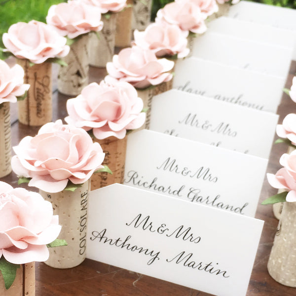 Wedding Table Place Card Ideas: Wine Cork Wedding Place Card Holder By Kara's Vineyard Wedding