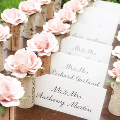 Classic Rose Single Wine Cork Place Card Holder