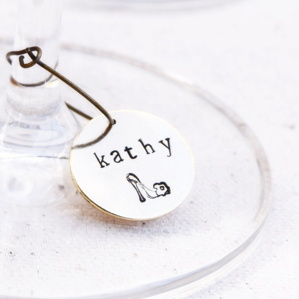 Personalized Wine Glass Charms – Kara\'s Vineyard Wedding