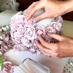SAVE 50% Make Your Own Dusty Mauve Wedding Flower Ball | DIY Wedding Decorations
