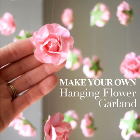 DIY Hanging Flower Garland | Wedding Flower Backdrop