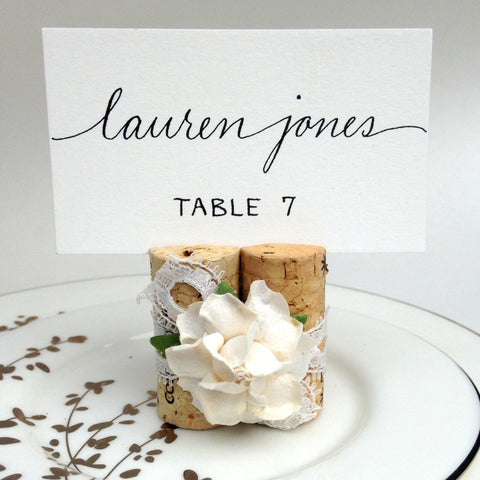 Lace & Flower Place Card Holder