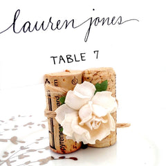 Succulent & Twine Place Card Holder
