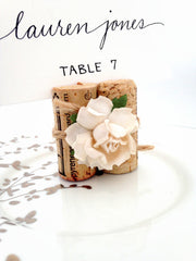 Succulent Bloom & Twine Place Card Holder