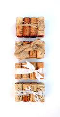 Rustic Wedding Table Number Holder, Featuring 8 Vintage Corks