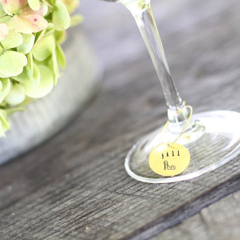 Personalized Wine Glass Charms