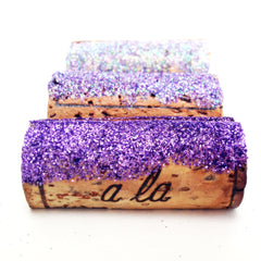Ombre Purple Glitter Place Card Holder