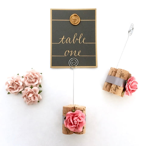 Vineyard Wedding Table Number Holder