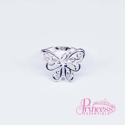 925 Sterling Silver Plated Butterfly Ring