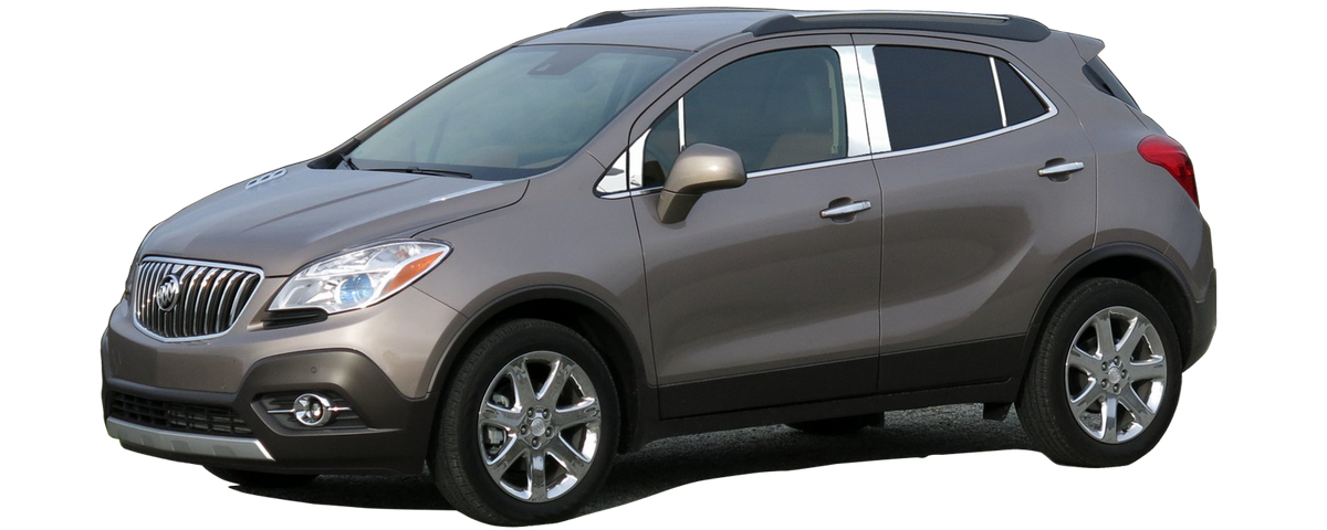 Made in USA Works with 2013-2019 Buick Encore 6PC Stainless Steel Chrome Pillar Post Trim