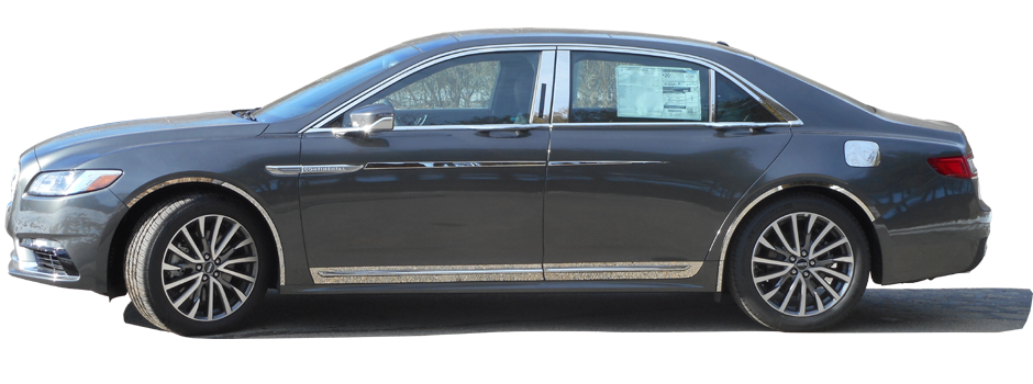 WP57681 LINCOLN CONTINENTAL 2017-2019 4PC Stainless Steel Window Trim Package