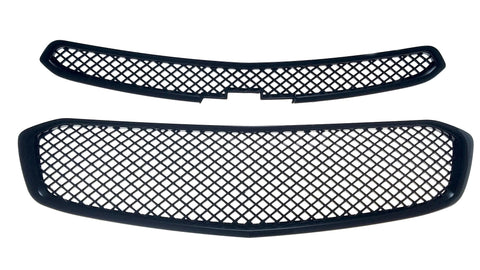 Auto Trim fits Chevrolet Cruze 2015-2016 2 piece Gloss Black ABS Plastic Grille Overlays ABS6423BLK