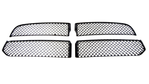 Gloss Black ABS Grille Overlays 4Pc Fits Ram Trucks RAM 2013-2018 ABS6429BLK