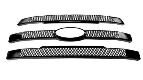Gloss Black ABS Grille Overlays 3Pc Fits Ford F-150 2015-2017 ABS6430BLK