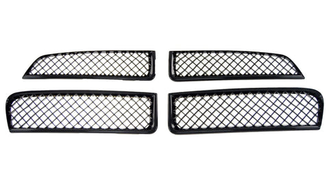 Gloss Black ABS Grille Overlays 4Pc Fits Dodge Charger 2011-2014 ABS6432BLK