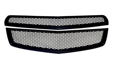 Auto Trim fits Chevrolet Equinox 2010-2015 2 piece Gloss Black ABS Plastic Grille Overlays ABS6433BLK