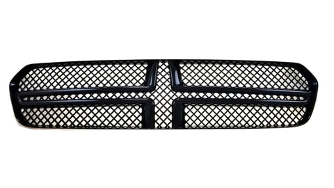 Gloss Black ABS Grille Overlays 1Pc Fits Dodge Durango 2014-2020 ABS6435BLK