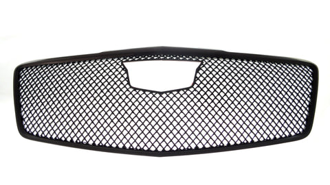 Auto Trim fits Cadillac CTS 2014-2019 1 piece Gloss Black ABS Plastic Grille Overlays Mesh Design ABS6448BLK