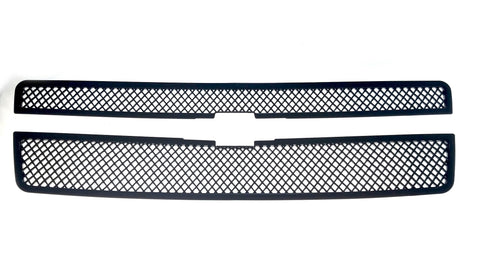Auto Trim fits Chevrolet Avalanche 2007-2013, Chevrolet Suburban 2007-2014, Chevrolet Tahoe 2007-2014 2 piece Gloss Black ABS Plastic Grille Overlays ABS6459BLK