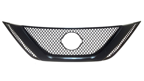Auto Trim fits Nissan Sentra 2016-2019 1 piece Gloss Black ABS Plastic Grille Overlays ABS6466BLK