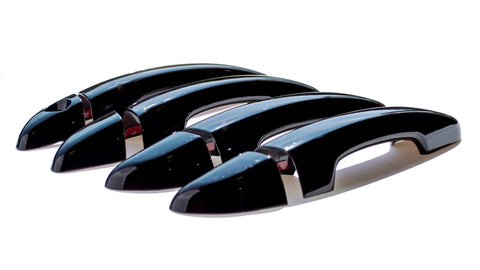 Auto Trim fits Hyundai Sonata 2015-2020 8 piece Gloss Black ABS Plastic Door Handle Covers Does not include Smart Key access DH6283BLK