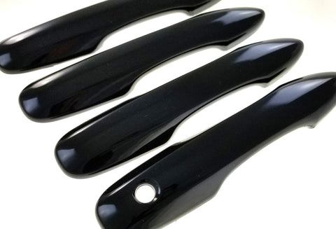 Auto Trim fits Toyota Avalon 2020-2020, Toyota Camry 2018-2020, Toyota Corolla 2020-2021, Toyota Prius 2017-2020 8 piece Gloss Black ABS Plastic Door Handle Covers works with Keyless entry DH6284BLK