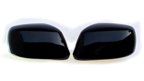Auto Trim fits Nissan Frontier 2005-2020, Nissan Pathfinder 2005-2012, Nissan Xterra 2004-2015 2 piece Gloss Black ABS Plastic Mirror Covers Full Cover MC6117BLK
