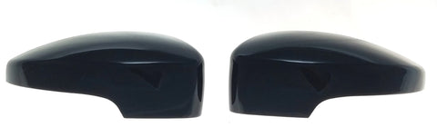 Auto Trim fits Ford C-Max 2013-2018, Ford Escape 2013-2016, Ford Focus 2013-2018 2 piece Gloss Black ABS Plastic Mirror Covers Top Half, Includes turn signal cutout MC6185BLK