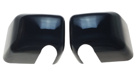 Auto Trim fits Jeep Wrangler JK 2007-2018 2 piece Gloss Black ABS Plastic Mirror Covers Full Cover MC6201BLK