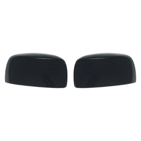 Auto Trim fits Chrysler Town & Country 2008-2016, Dodge Grand Caravan 2008-2020, Volkswagen Routan 2009-2012 2 piece Gloss Black ABS Plastic Mirror Covers Top Half MC6217BLK