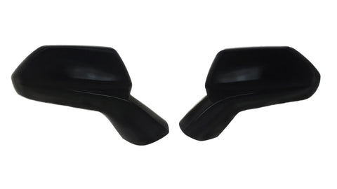 Auto Trim fits Chevrolet Camaro 2016-2020 2 piece Gloss Black ABS Plastic Mirror Covers Partial Coverage, Only covers OEM Cap MC6227BLK