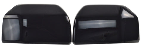 Auto Trim fits Ford F-150 2015-2020 2 piece Gloss Black ABS Plastic Mirror Covers Top Half MC6245BLK