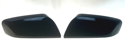 Auto Trim fits Chevrolet Impala 2014-2020 2 piece Gloss Black ABS Plastic Mirror Covers Top Half MC6251BLK
