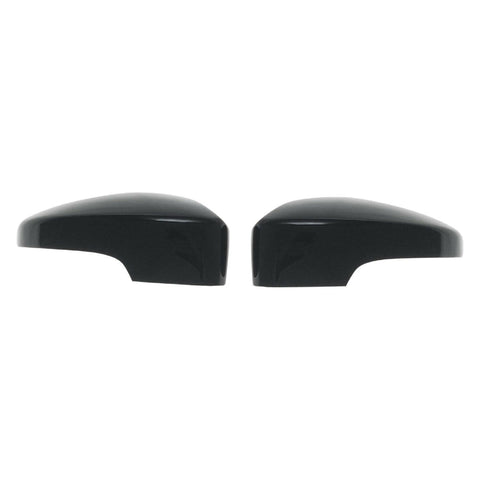 Auto Trim fits Ford Escape 2017-2019 2 piece Gloss Black ABS Plastic Mirror Covers Top Half, Includes turn signal cutout MC6266BLK