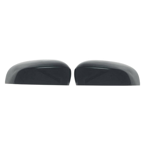 Auto Trim fits Ford Escape 2017-2019 2 piece Gloss Black ABS Plastic Mirror Covers Top Half, Does not include signal cutout MC6275BLK
