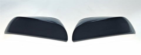 Auto Trim fits Toyota Tacoma 2016-2020 2 piece Gloss Black ABS Plastic Mirror Covers Top Half, Does not include signal cutout MC6279BLK