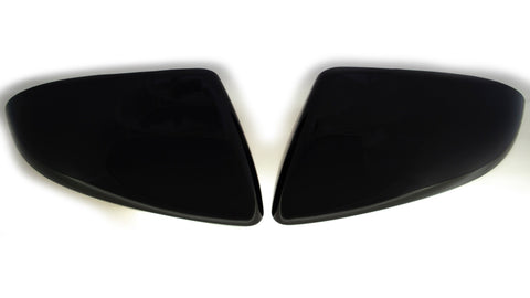 Auto Trim fits Hyundai Elantra 2017-2020 2 piece Gloss Black ABS Plastic Mirror Covers Top Half, Does not include signal cutout MC6286BLK