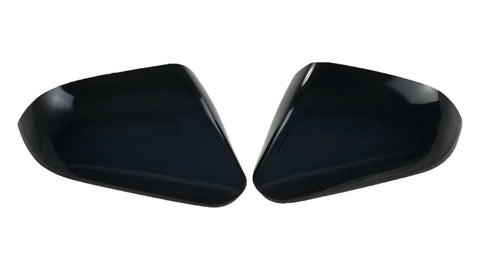 Auto Trim fits Hyundai Sonata 2015-2020 2 piece Gloss Black ABS Plastic Mirror Covers Top Half, Includes turn signal cutout MC6289BLK