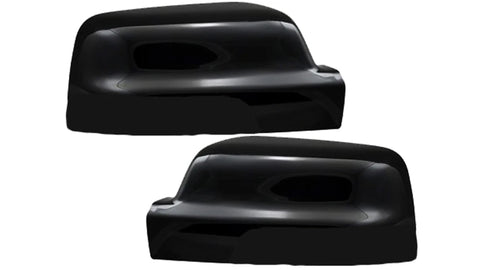 Auto Trim fits Ram Trucks RAM 1500 2019-2020, Ram Trucks RAM 2500 2020-2021 2 piece Gloss Black ABS Plastic Mirror Covers Does not include turn signal cutout MC6303BLK