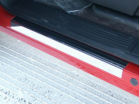 SILVERADO/SIERRA 2007-2013 CHEVROLET/GMC (4 Pc: Stainless Steel Door Sill Trim - 3.5