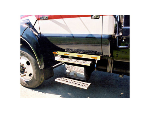 Ford F-550, F-650, F-750 - 3pc Battery Cover & Step Face Plate Cover Package QAA Part FD657BSP