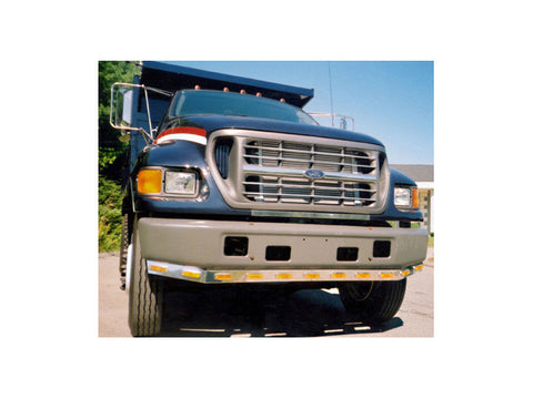 Ford F-550, F-650, F-750 - 7pc Grille and Nose guard Package QAA Part FD657GNP