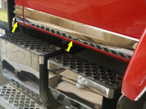 GMC C-Series - 4pc Regular Cab Rocker Panel Trim QAA Part GM6500RP