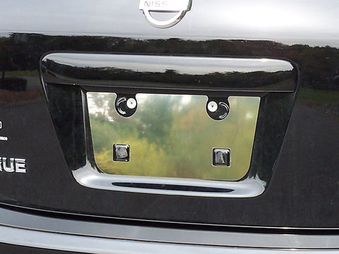 QAA fits Nissan Rogue 2008-2013 (1 piece Stainless Steel License Plate Bezels) LP28535-1