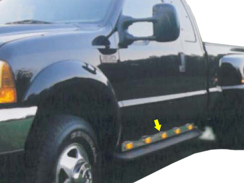 Ford F-350, F-450, F-550, F-650, F-750 - 2PC 10 LED Under the Door Light Panels *SUPER CAB ONLY* QAA Part NR99FSCL