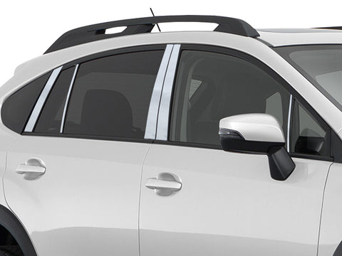 IMPREZA 2013-2016 SUBARU (10 Pc: Stainless Steel Pillar Post Trim Kit w/trim by side mirror, 4-door, Sport ONLY) PP13428:QAA