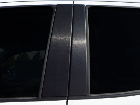 QAA fits Toyota Sequoia 2008-2020, Toyota Tundra 2007-2020 4 piece Brushed Matte Black Aluminum Pillar Post Trim, PP27145B