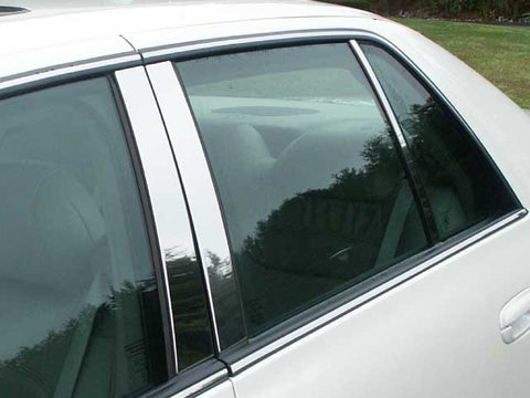 DEVILLE/DTS 2000-2011 CADILLAC (6 Pc: Stainless Steel Pillar Post Trim Kit , 4-door) PP40246