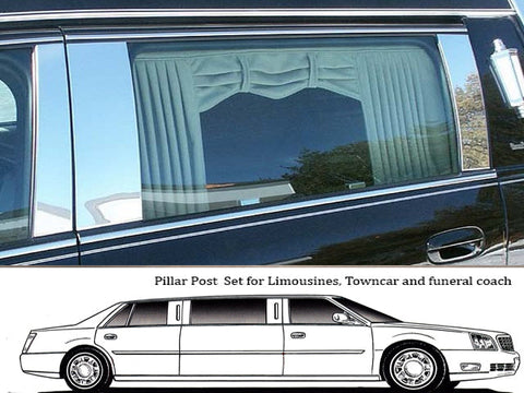 DEVILLE/DTS HEARSE 2000-2011 CADILLAC (*Customer Design*)(6 Pc: Stainless Steel Pillar Post Trim Kit) PP40259