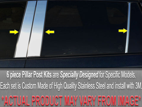 CONCORDE/LHS 1998-2004 CHRYSLER (6 Pc: Stainless Steel Pillar Post Trim Kit, 4-door) PP40741
